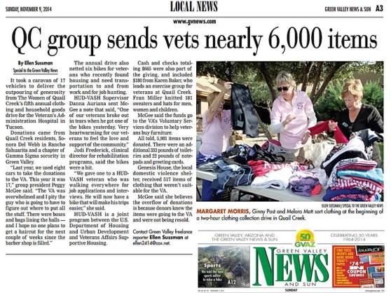 Green Valley News Sunday, November 9, 2014