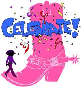 Cowgirl celebrates