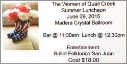 Summer luncheon ticket _ 2015