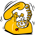 old phone yellow