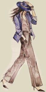 Chic fashion lady _ clipart