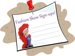 Fashion Show sign-ups