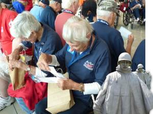 Honor flight _ reading letters