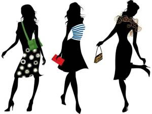 Fashion Show - models clipart(1)