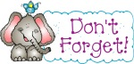 clipart Don_t_Forget_clipart, elephant, reminder
