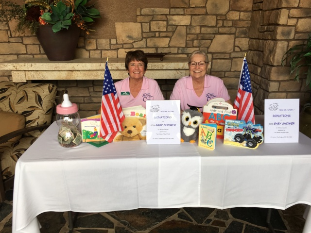 2016 JoAnn Haberer and Noreen Melcnert.baby shower committee members raising money
