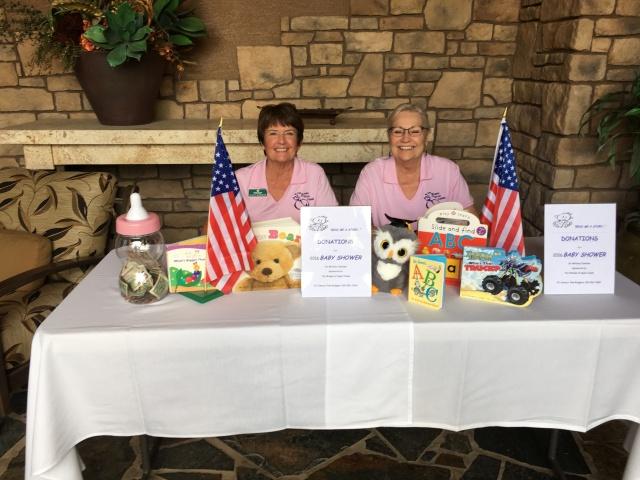 2016 JoAnn Haberer and Noreen Melcnert.baby shower committee members raising money