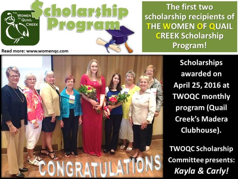 TWOQC Scholarship Night_April 25, 2016