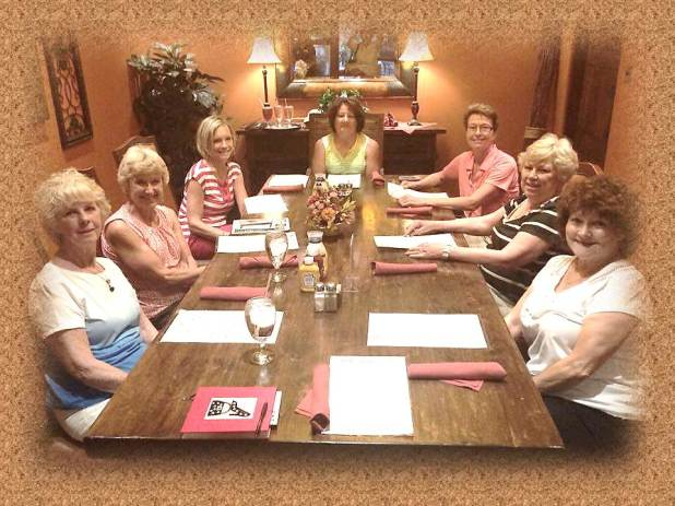 2016 Baby Shower members (some) enjoy lunch after a planning meeting (June 13)