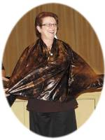 Sue Ann Obremski models the Perfect Wrap