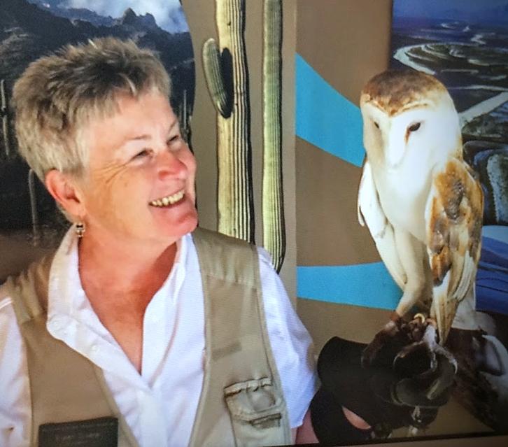 Eileen with barn owl