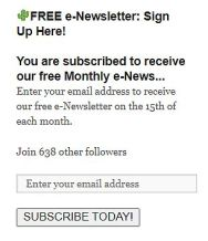 subscribe to free monthly e-newsletter